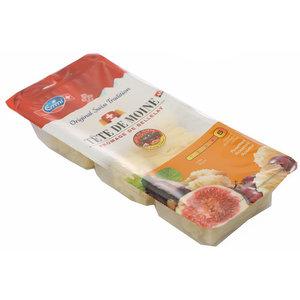 Сыр полутвердый нарезка розочкой Tete de Moine (Тет де Муан) ТМ Emmi (Эмми) 51%
