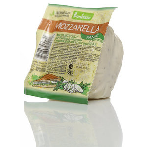 Сыр Моцарелла Panini с базиликом 45% ТМ Bonfesto (Бонфесто)