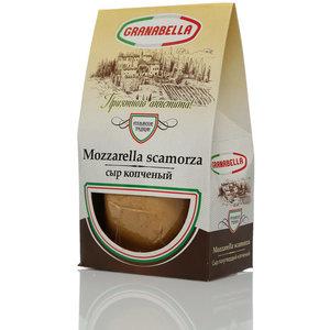 Сыр копченый Mozzarella scamorza (Моцарелла Скаморца) ТМ Granabella (Гранабелла) 45%