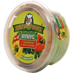 Закуска хумус с паприкой и петрушкой ТМ Перекусов