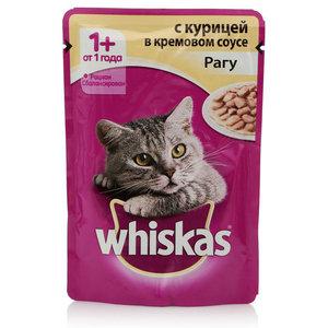 Корм для взрослых кошек рагу с курицей в кремовом соусе ТМ Whiskas (Вискас)