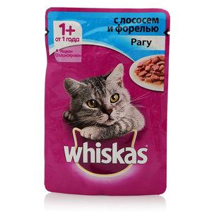 Корм для взрослых кошек рагу с лососем и форелью ТМ Whiskas (Вискас)