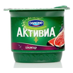 Йогурт (БиоЙогурт) инжир 2,9% ТМ Активиа, обогащенный бифидобактериями ActiRegularis