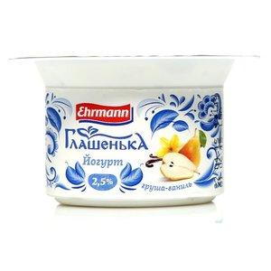 Йогурт груша и ваниль ТМ Глашенька