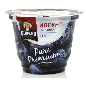 Йогурт с черникой 2,5% ТМ Quaker (Квейкер)