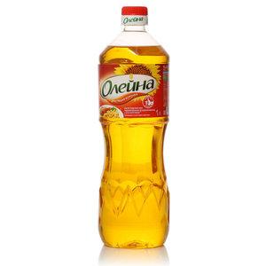 Подсолнечное масло рафинированное дезодорированное с бета-каротином ТМ Олейна