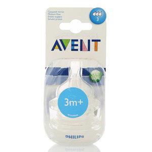 Соска со средним потоком Класик+ для детей от 3 мес. 2 шт ТМ Avent (Авент)