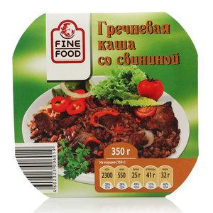 Гречневая каша со свининой ТМ Fine Food (Фин Фуд)