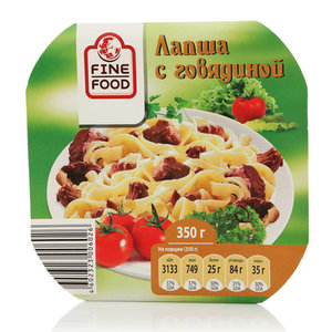 Лапша с говядиной, тм Fine Food (Фин Фуд)