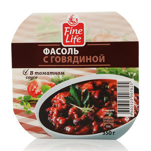 Фасоль с говядиной в томатном соусеТМ Fine Life (Фин Лайф)