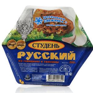 Студень Русский из говядины и свинины ТМ Хрустальная снежинка