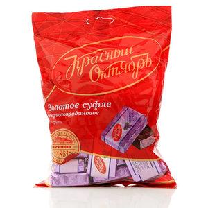 Конфеты Золотое суфле черносмородиновое ТМ Красный Октябрь