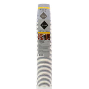 Стакан бумажный одноразового применения для горячих напитков, 200 мл ТМ Rioba (Риоба), 50 шт
