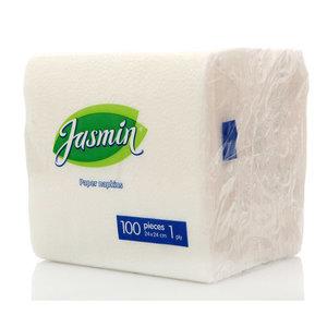 Салфетки бумажные однослойные ТМ Jasmin (Жасмин), 100 шт +/- 5%