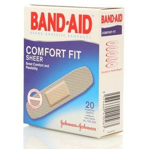 Пластырь антисептический Абсолютный Комфорт ТМ Band-Aid (Бэнд Аид) 20 шт