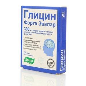 Глицин ТМ Форте Эвалар 20 таблеток