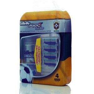 Сменные кассеты для бритья Mach3 turbo TM Gillette (Жилетт)