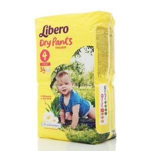Трусики-подгузники для детей Dry Pants (Драй пентс) 7-11 кг 34 шт ТМ Libero (Либеро)