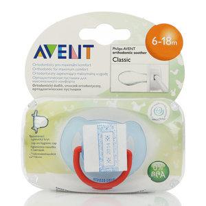 Ортодонтическая пустышка серии Класик для детей 6-18 мес. ТМ Avent (Авент)