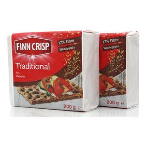 Хлебцы традиционные ржаные ТМ Finn Crisp (Финн Крисп) 2*200г