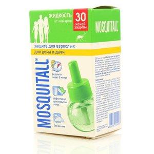Жидкость от комаров ТМ Mosquitall (Москитол), защита для взрослых для дома и дачи, 30 ночей защиты