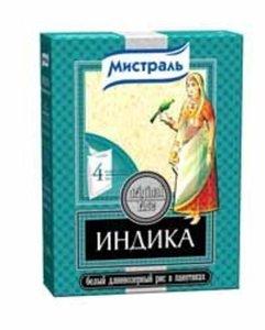 Рис белый длиннозерный (в пакетах для варки) ТМ Индика