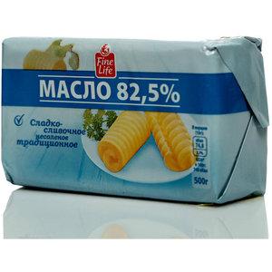 Масло сладко-сливочное несоленое 82,5% ТМ Fine Life (Файн Лайф)