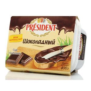 Сыр плавленый шоколадный ТМ President (Президент)