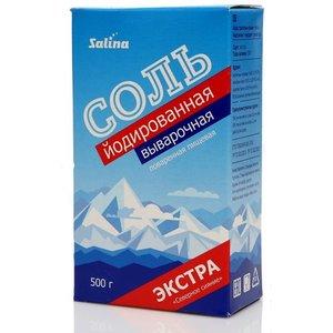 Соль йодированная выварочная Экстра Северное сияние ТМ Salina (Салина)