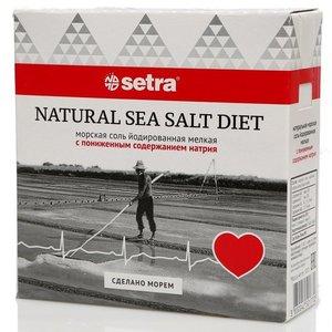 Соль йодированная мелкая с пониженным содержанием натрия ТМ Setra (Сетра)