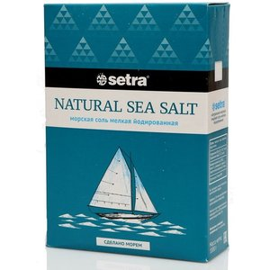 Соль мелкая йодированная ТМ Setra (Сетра)
