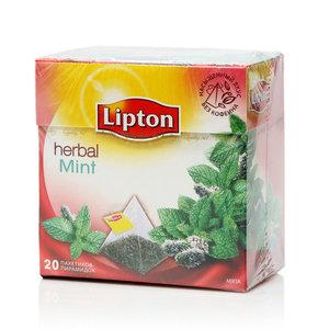 Напиток травяной мятный Dellicate Mint (Деликат Минт) ТМ Lipton (Липтон), 20 пирамидок.