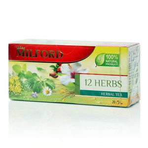 Чай 12 трав ТМ Milford (Милфорд), 20 пакетиков