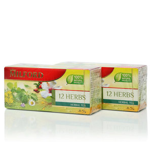 Чай зеленый 12 трав 2*20*2,25г ТМ Milford (Милфорд)