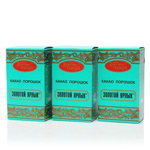 Какао-порошок Золотой ярлык ТМ Красный Октябрь, 3*100г
