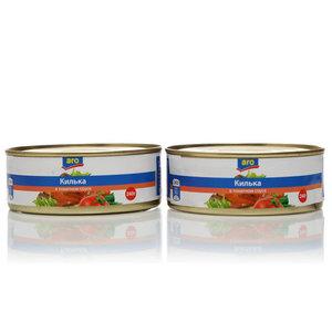 Килька в томатном соусе ТМ Aro (Аро), 2*240г