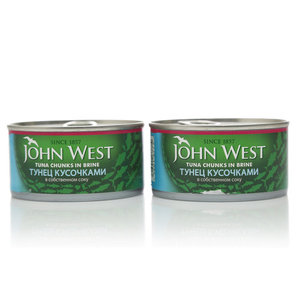 Тунец кусочками в собственном соку ТМ John West (Джон Вест), 2*185г