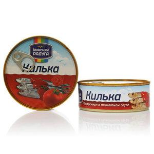 Шпроты в томатном соусе ТМ Морская Радуга, 2*240г