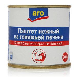 Паштет нежный из говяжьей печени ТМ Aro (Аро)