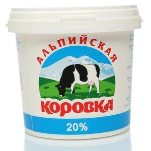 Сметанный продукт 20% ТМ Альпийская коровка