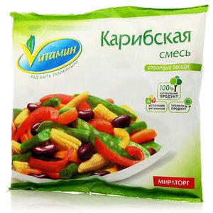 Карибская смесь отборные овощи свежезамороженные ТМ Vитамин (Витамин)