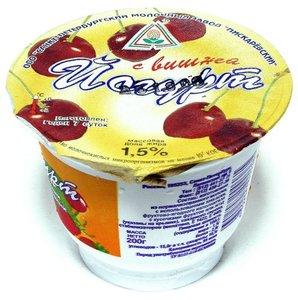 Йогурт фруктово-ягодный в ассортименте 1,5% ТМ Пискаревский