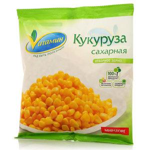 Кукуруза сахарная отборное зерно свежезамороженная ТМ Vитамин (Витамин)