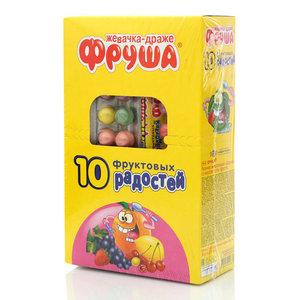 Жевательная резинка 10 фруктовых радостей 24 пачки ТМ Фруша