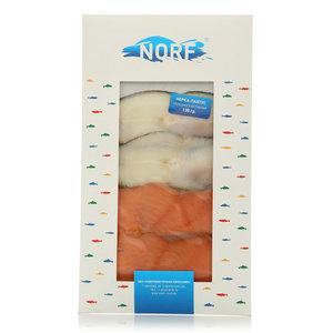 Ассорти нерка-палтус холодного копчения ТМ Norf (Норф)