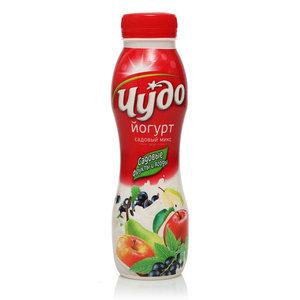 Йогурт питьевой с садовыми фруктами и ягодами 2,4% ТМ Чудо