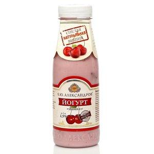 Йогурт питьевой вишня 1,5% ТМ Б.Ю. Александров