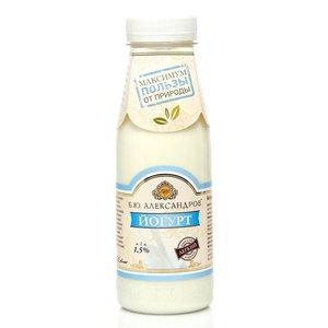 Йогурт питьевой легкий 1,5% ТМ Б.Ю. Александров