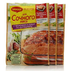 Смесь для сочного Мяса с чесноком и луком по-домашнему 3*41г ТМ Maggi (Магги) на второе