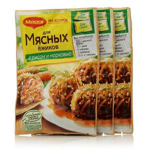 Смесь сухая для мясных Ёжиков с рисом и морковью, 3*37г, ТМ Maggi (Магги) Корона салата